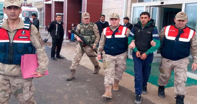 Akçakale'de yakalanan terör örgütü PKK/PYD üyesi...