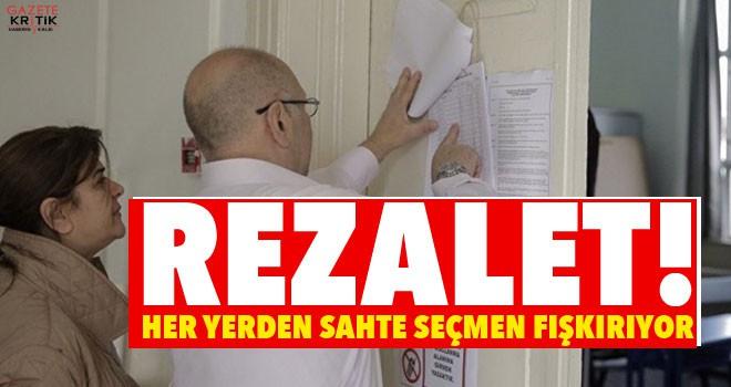 Rezalet! İstanbul'un dört bir yanından sahte seçmen...