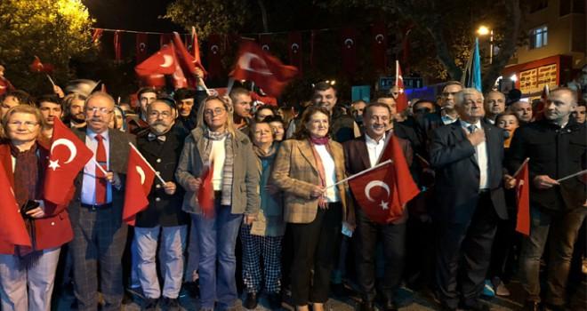 Silivri'de binlerce kişinin Cumhuriyet coşkusu