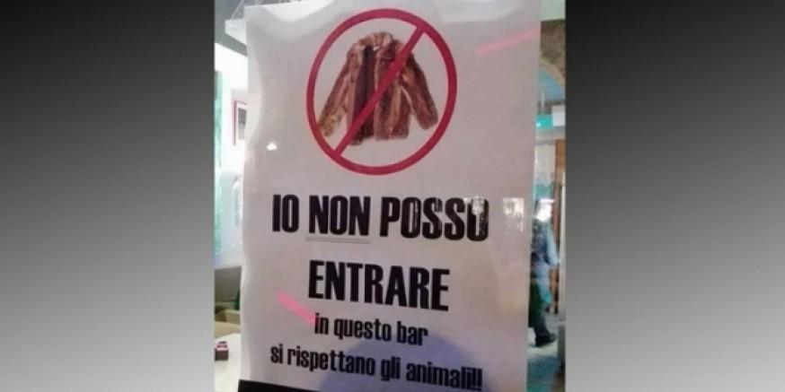 İtalya'da bir kafeterya, kürk giyen müşterilere giriş yasağı koydu