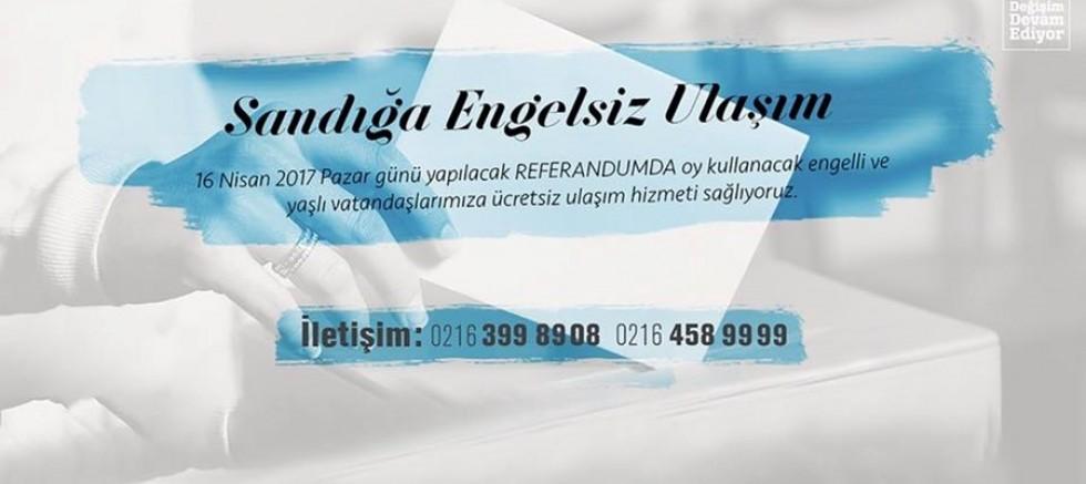 Maltepe Belediyesi'nden engelliler için referandumda ücretsiz servis