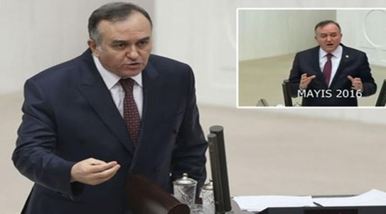 MHP'li Akçay 'Başkanlık' açıklaması yaparken arşivi unuttu