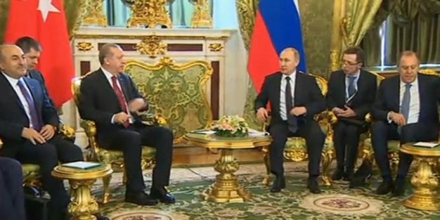 Moskova'daki kritik Putin-Erdoğan görüşmesi başladı