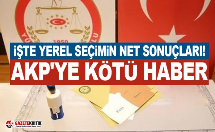İşte yerel seçimin net sonuçları! AKP'ye kötü haber