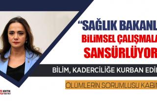 CHP'li Gamze Akkuş İlgezdi:Sağlık bakanlığı...