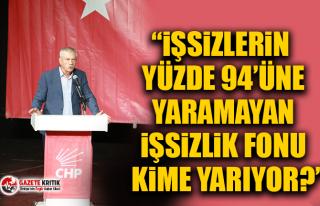 CHP'li Kani Beko: İşsizlerin yüzde 94'üne...