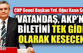 """CHP'li Oğuz Kaan Salıcı: """"O sandık halkın..."""