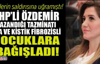 CHP'li Banu Özdemir kazandığı tazminatı SMA...