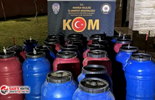 Manisa'da 3 bin 615 litre sahte içki ele geçirildi