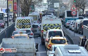 İstanbul'da hafta sonu kısıtlaması öncesinde trafik kilit