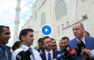 Erdoğan ile gazeteciler arasında ''ayar verme'' diyaloğu